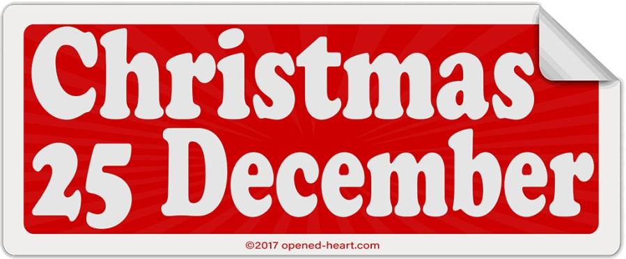 Christmas 25 December