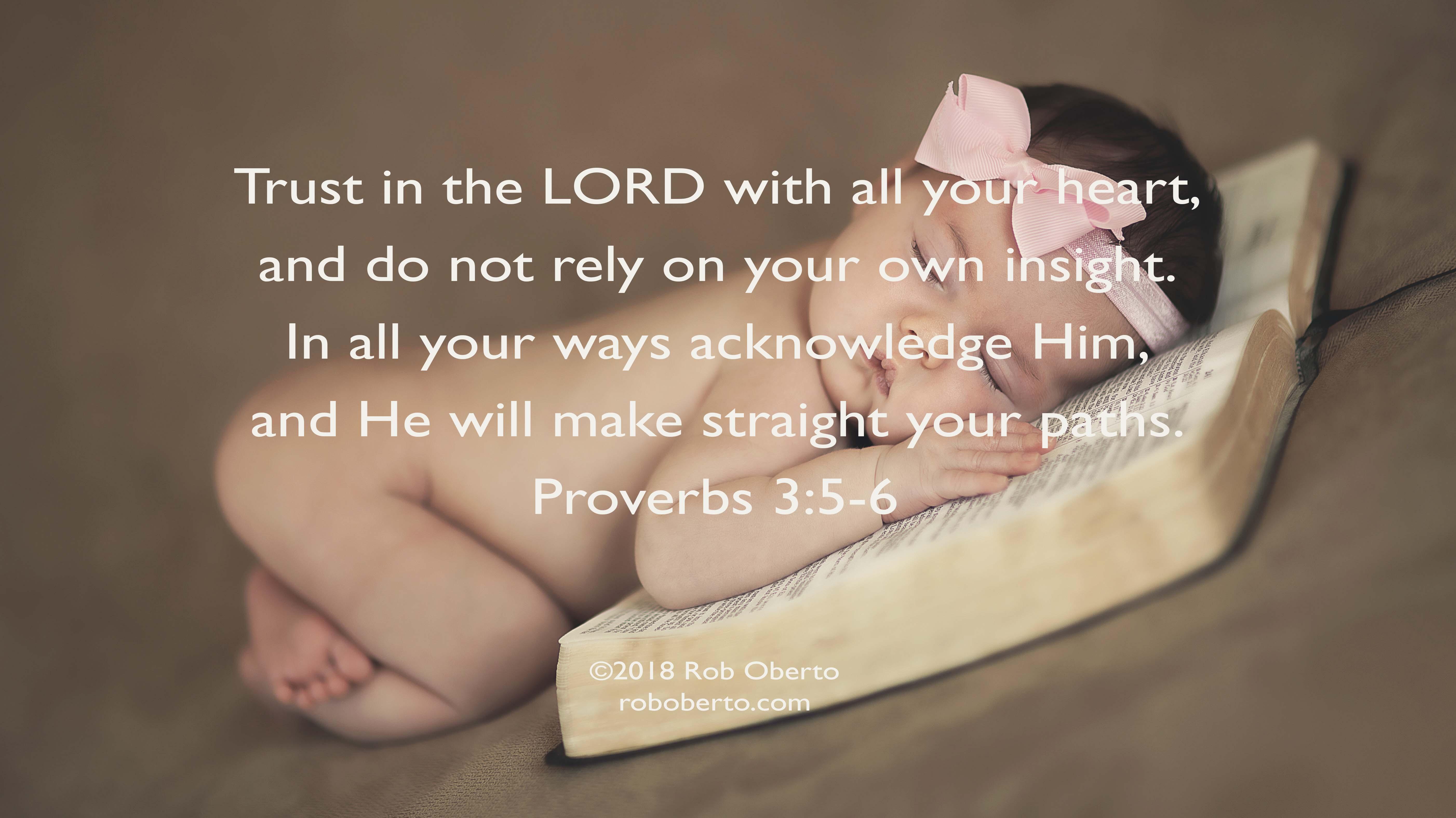 Baby on Bible